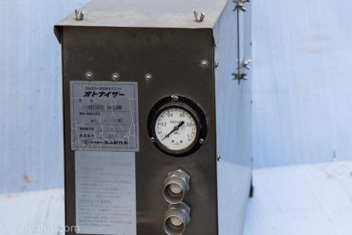 佐山製作所 ユニフォス ポンプユニット制御盤との結線 圧力スイッチの設定