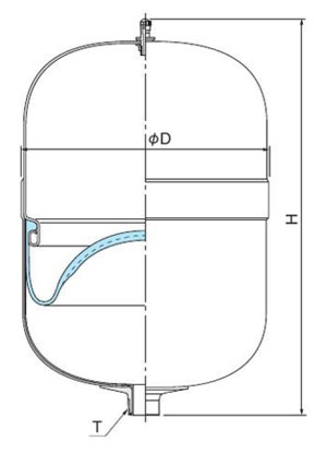 圧力タンク断面図